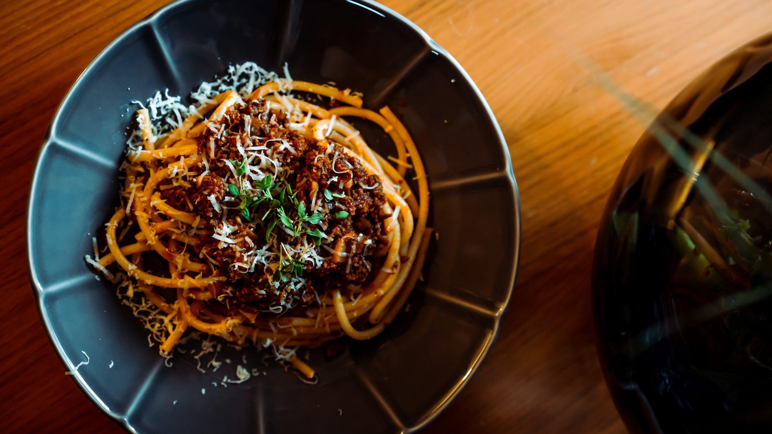 Pasta Bolognese for dinner, what else do you need?